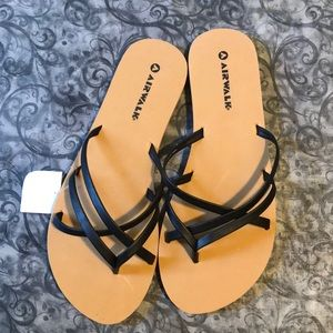 Airwalk brand black strappy sandals